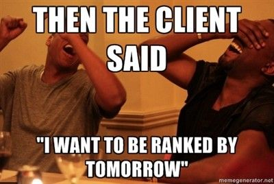 SEO clients expectations