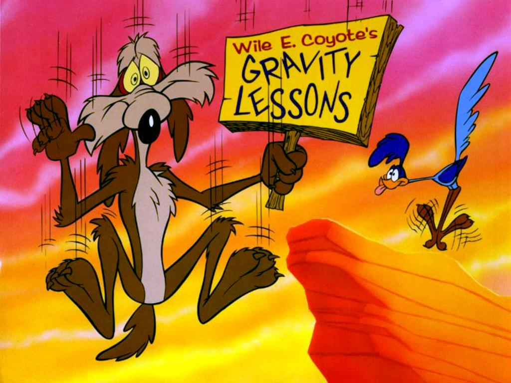 Wile Coyote Falling