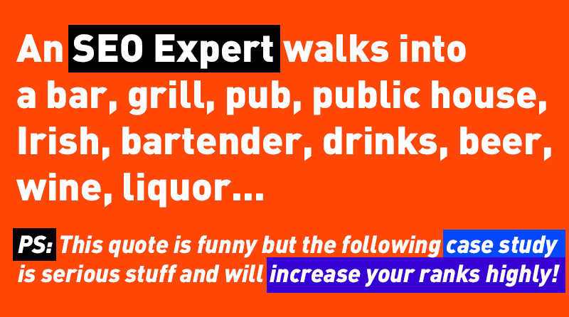 An Seo Expert walks into a bar
