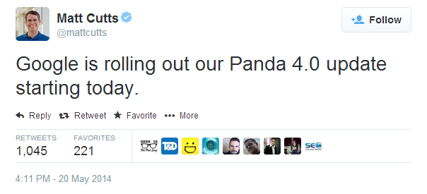 Screenshot Panda 4.0 Announcement