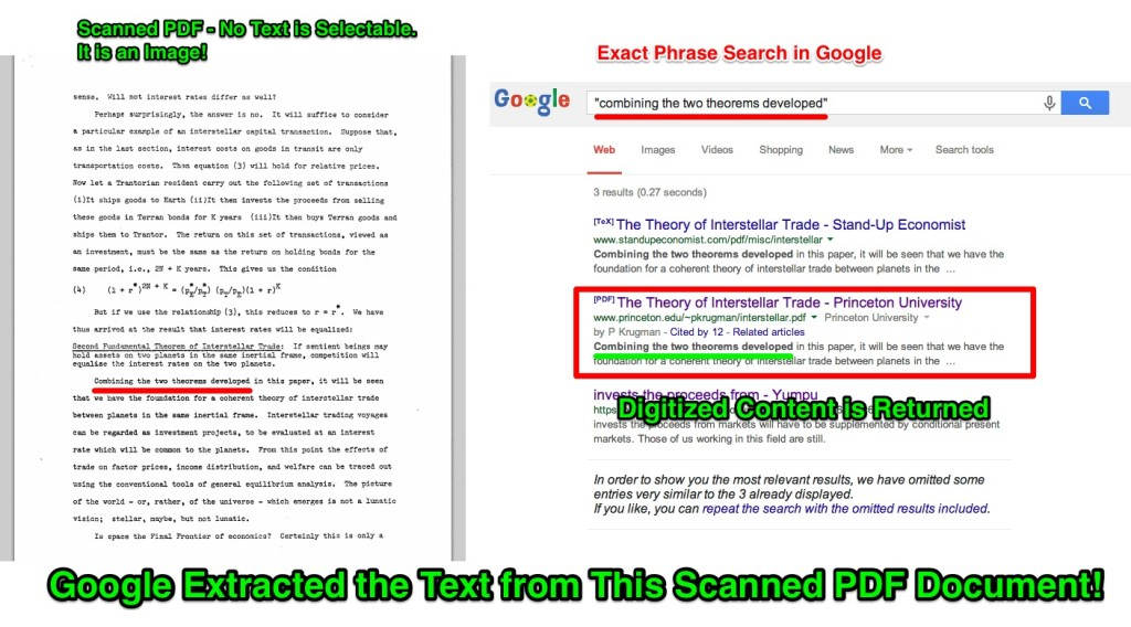 Google Extracts the Text from This Scanned PDF Document