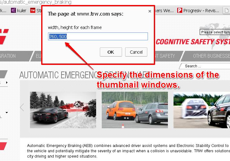 URL Links Dimension