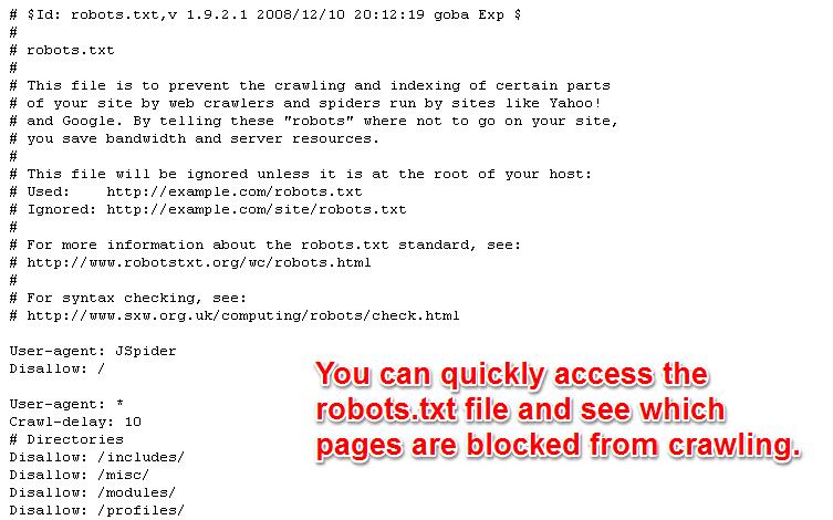 View Website Robotstxt
