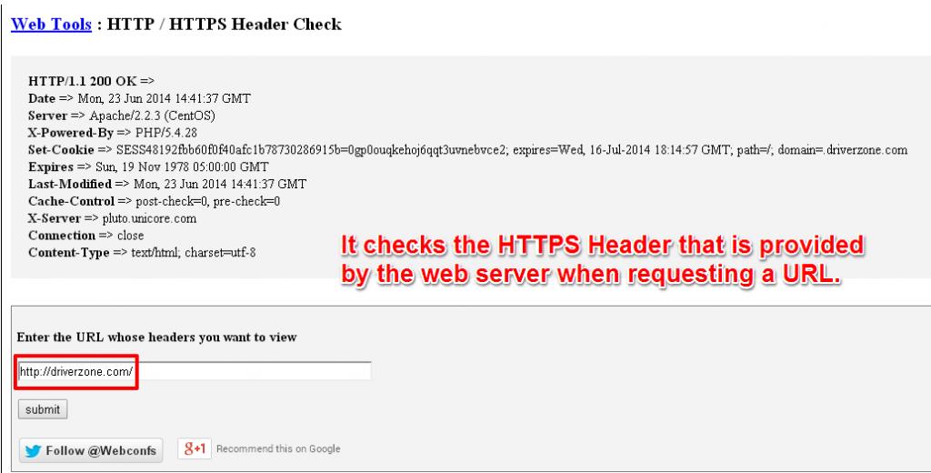 HTTPS Header