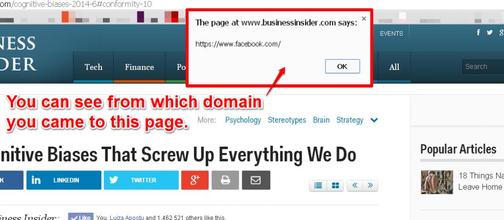Refferer Domain