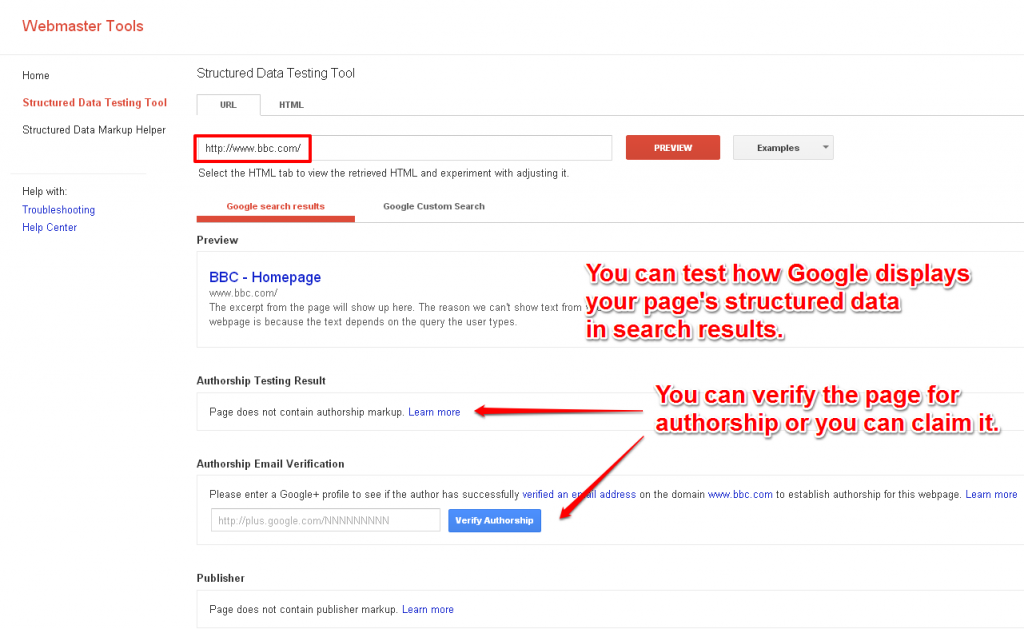 Preview How Your Page And It's Rich Snippets Looks in Search Results