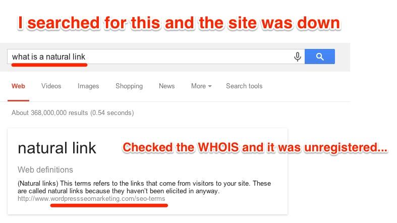 Web Definition Broken Unregistered Site
