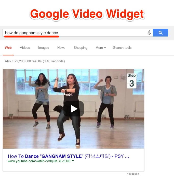 Google Video Widget Definition