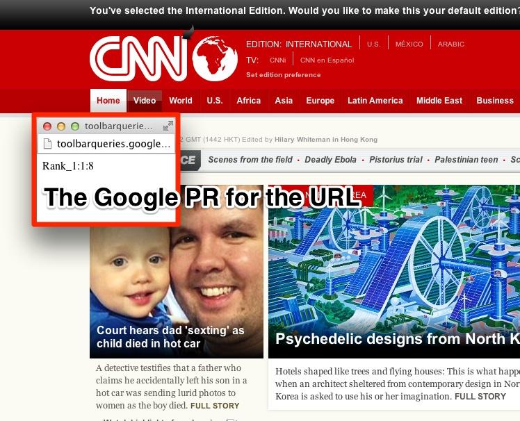 Google PR Bookmarklet