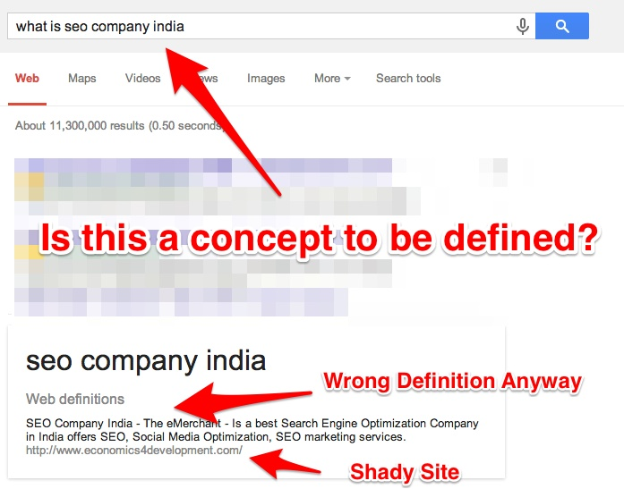 What Is A SEO India Failure Google Answers