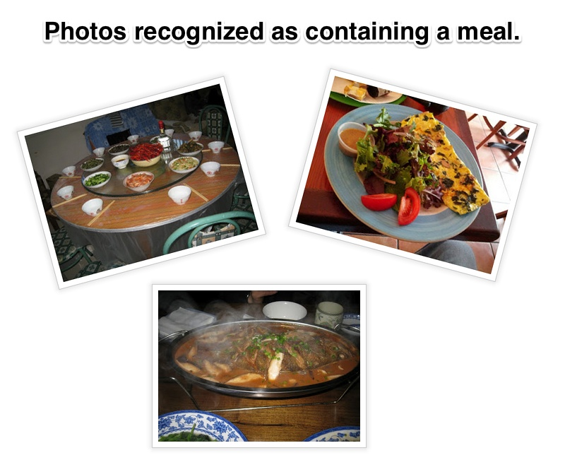 Google Photo Meal Image Detection