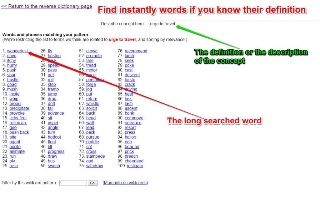 Grįžtamieji žodynai žodžiams rasti