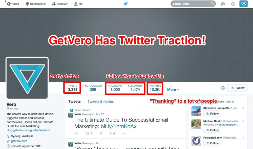 """Getvero"" ""Twitter"""