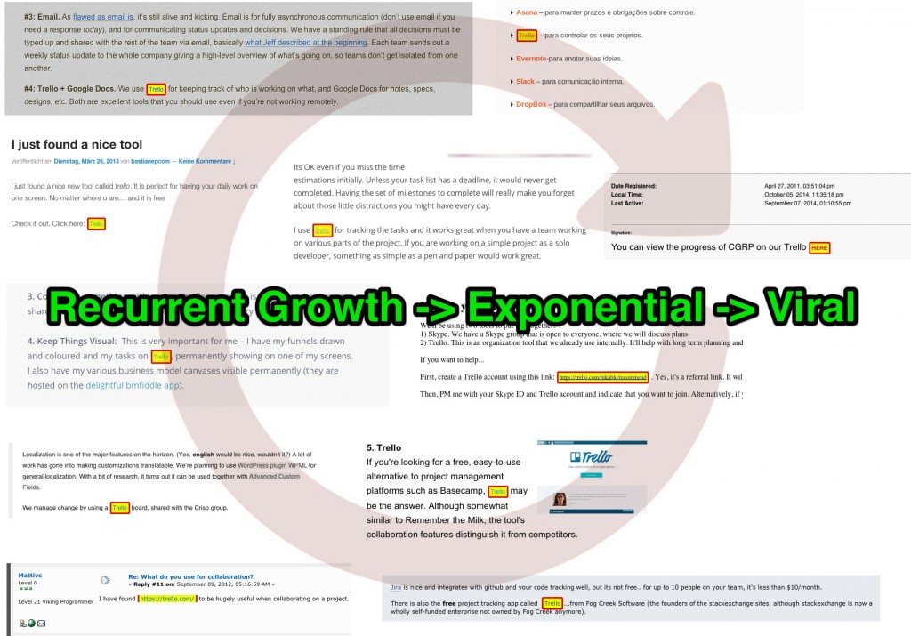 Trello Recurrent Growth Viral