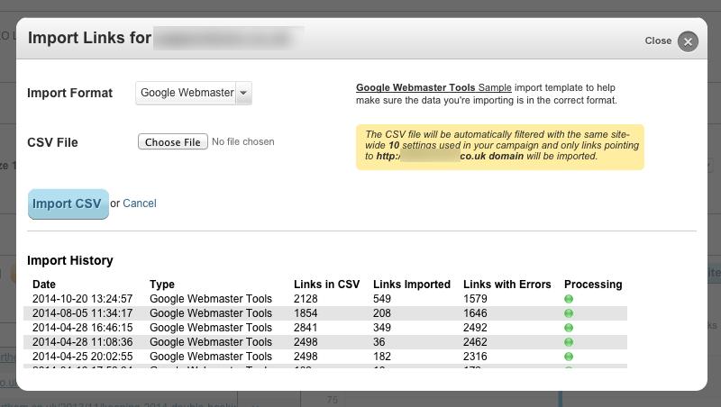"""""""Google"""" ir """"Bing Link"""" papildomų duomenų importas, kurį apdoroja pažintinis SEO"""
