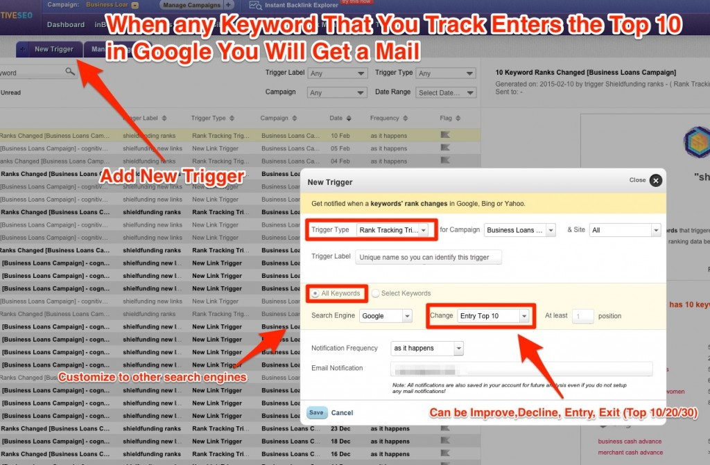 Flexible Rank Tracking Alerts