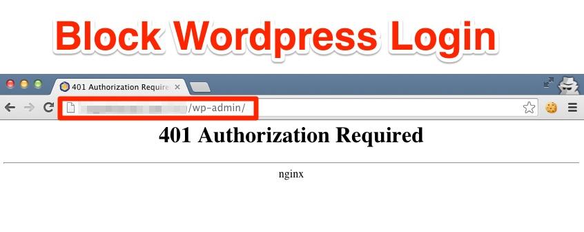 """Blokuokite """"WordPress"""" prisijungimą"""