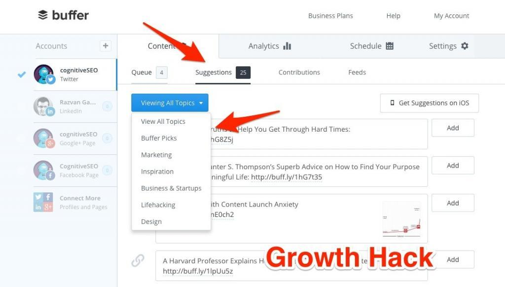 Bufferapp Growth Hack