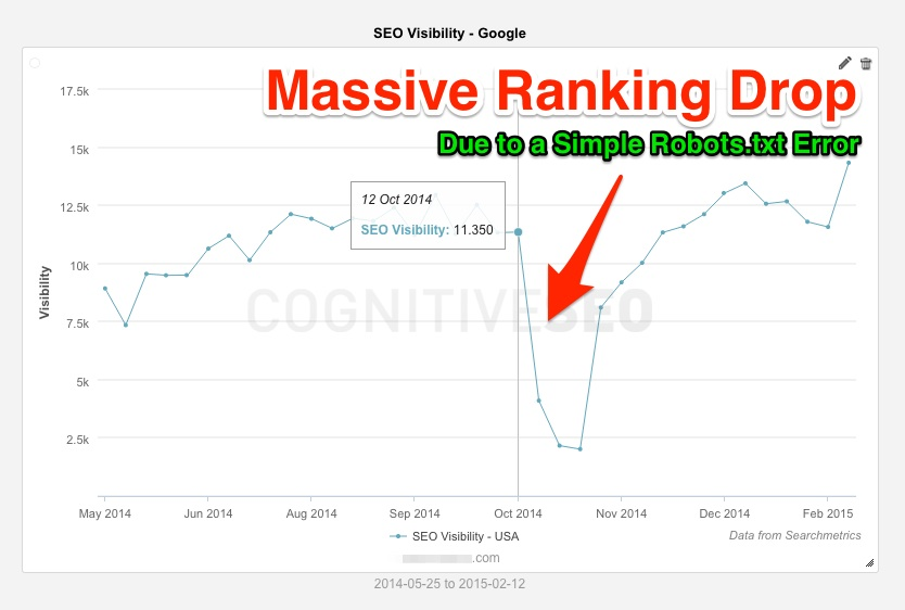 Massive Ranking Drop - robots.txt