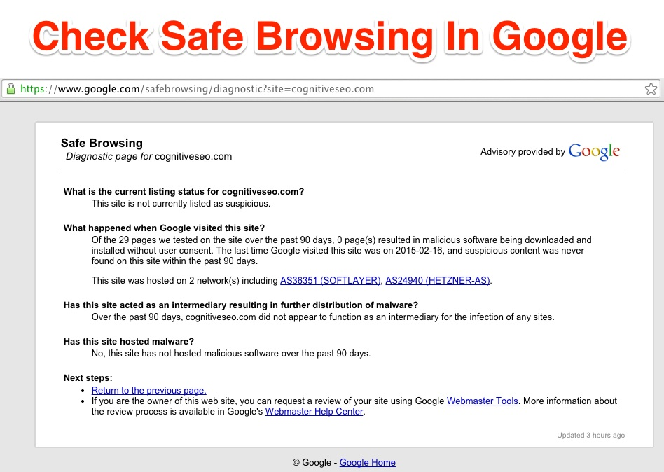 Safe Browsing cognitiveSeo