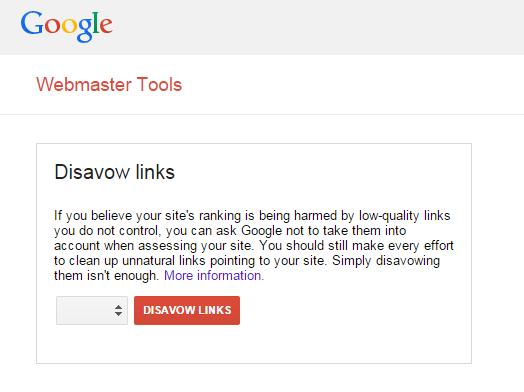 Disavow Tool Google