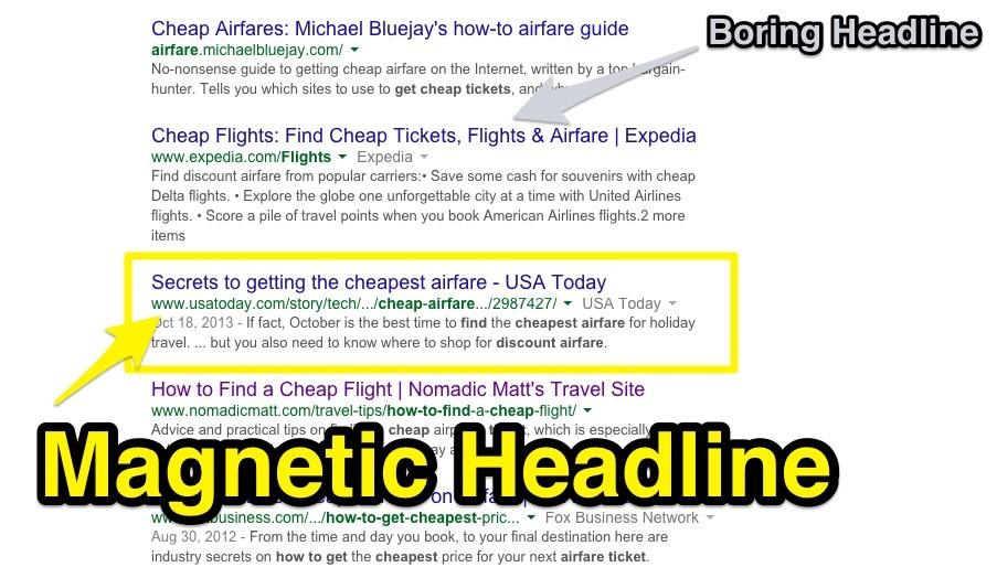 Magnetic Headline
