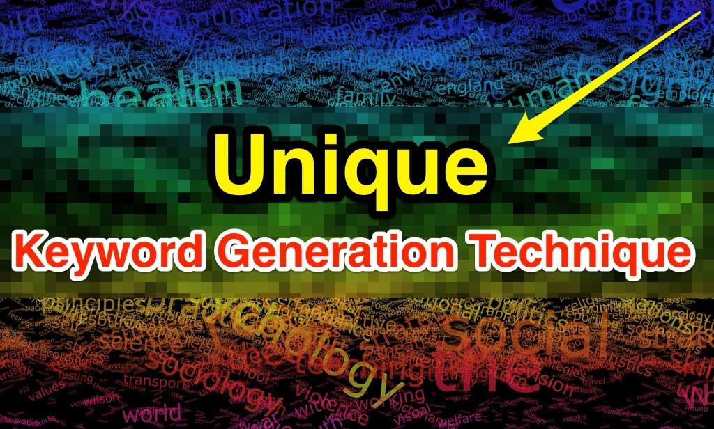 Unikali raktinių žodžių generavimo technika