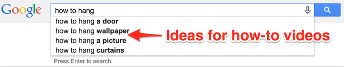 Get Ideas from Google
