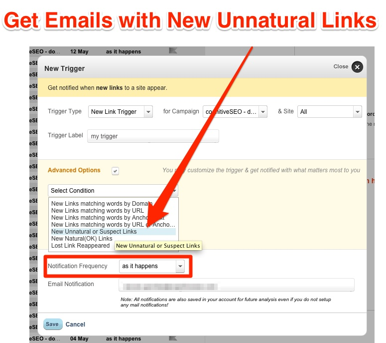 Unnatural Link Alerts