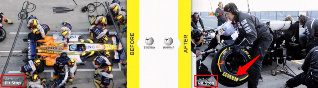Before After Pit Stop Article on Wikipedia
