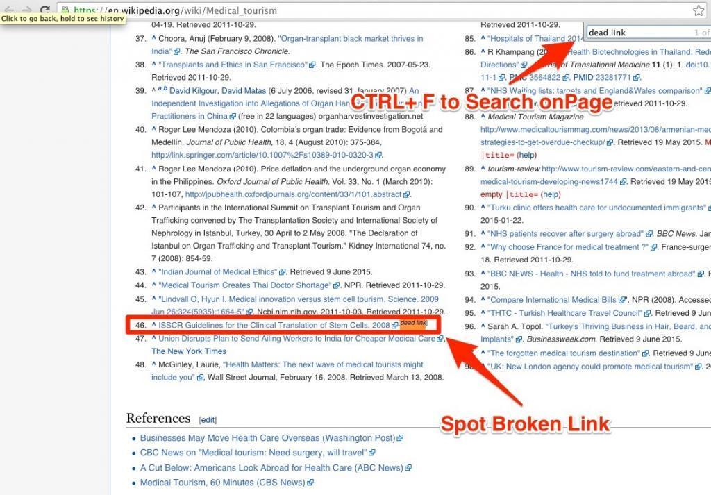 Wikipedia Broken Link