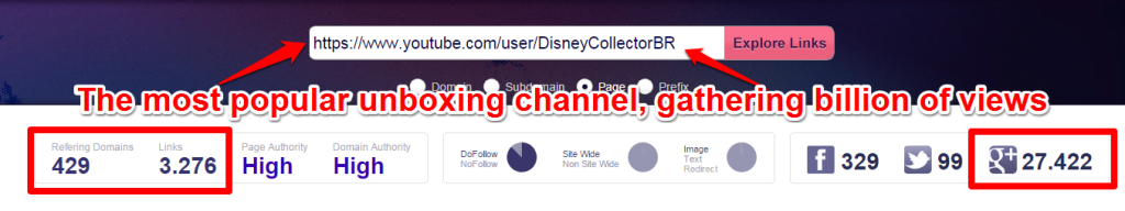 Disney Unboxing Link Profile