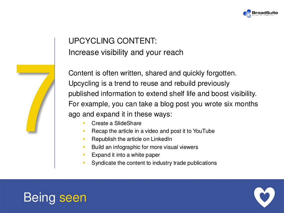 Upcycling Content Tips