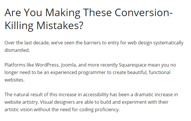 Attack a Sub-niche - Conversion Killing Mistakes_Intro