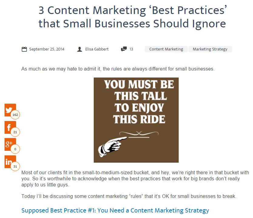 Geriausia praktika - turinio rinkodaros idėjos, į kurias reikia nekreipti dėmesio