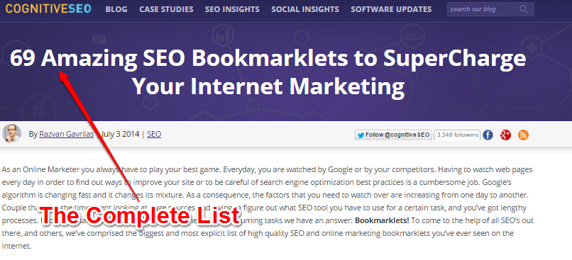Lists - 69 Amazing SEO Bookmarklets for Internet Marketing