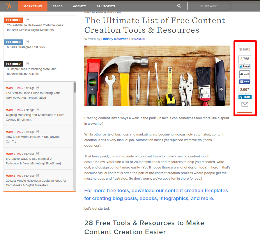 Lists - Ultimate List of Free Content Creation Tools & Resources