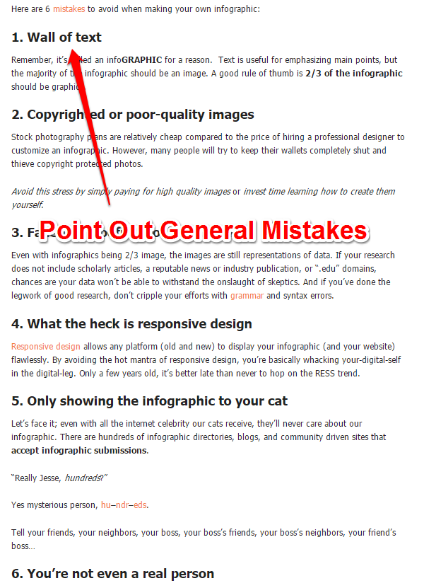 Pros and Cons - Infographics mistakes