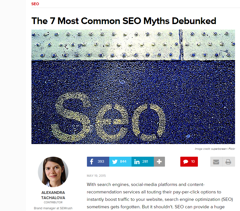 Rethink a Common Viewpoint - Common SEO Myths Debunked
