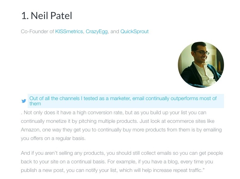 7 Experts Building Your Email List