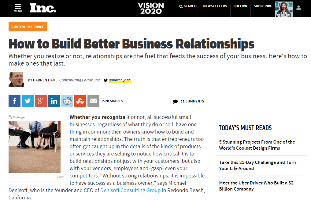 Build Better Business Relationships