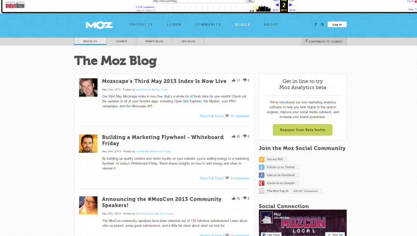 Moz Blog in 2013