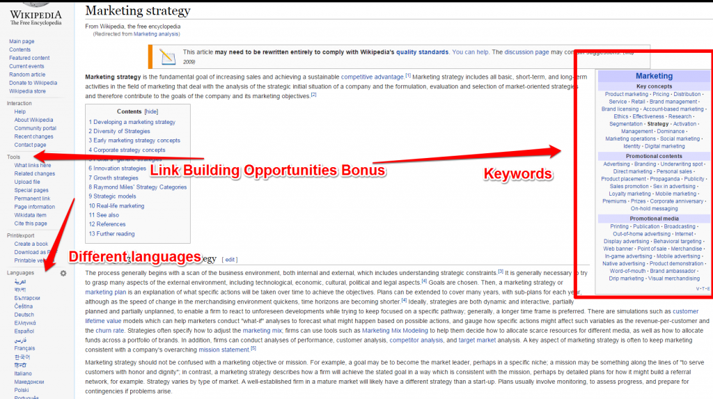 Wikipedia Article Screenshot
