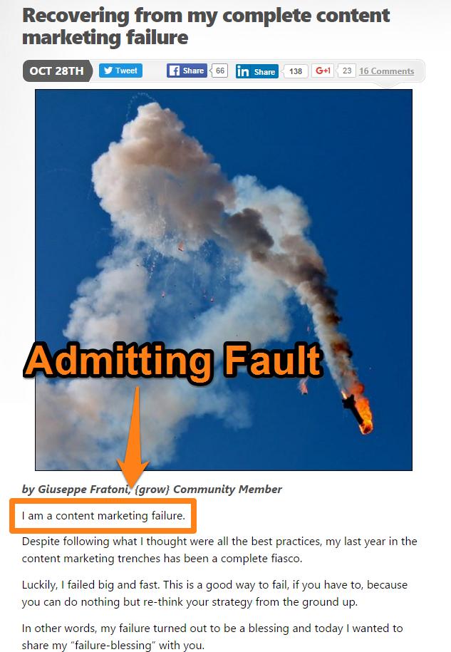 Admitting Fault Giuseppe Fratoni