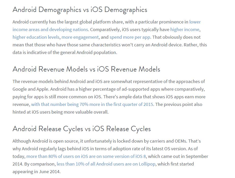 Android vs. iOS Comparison