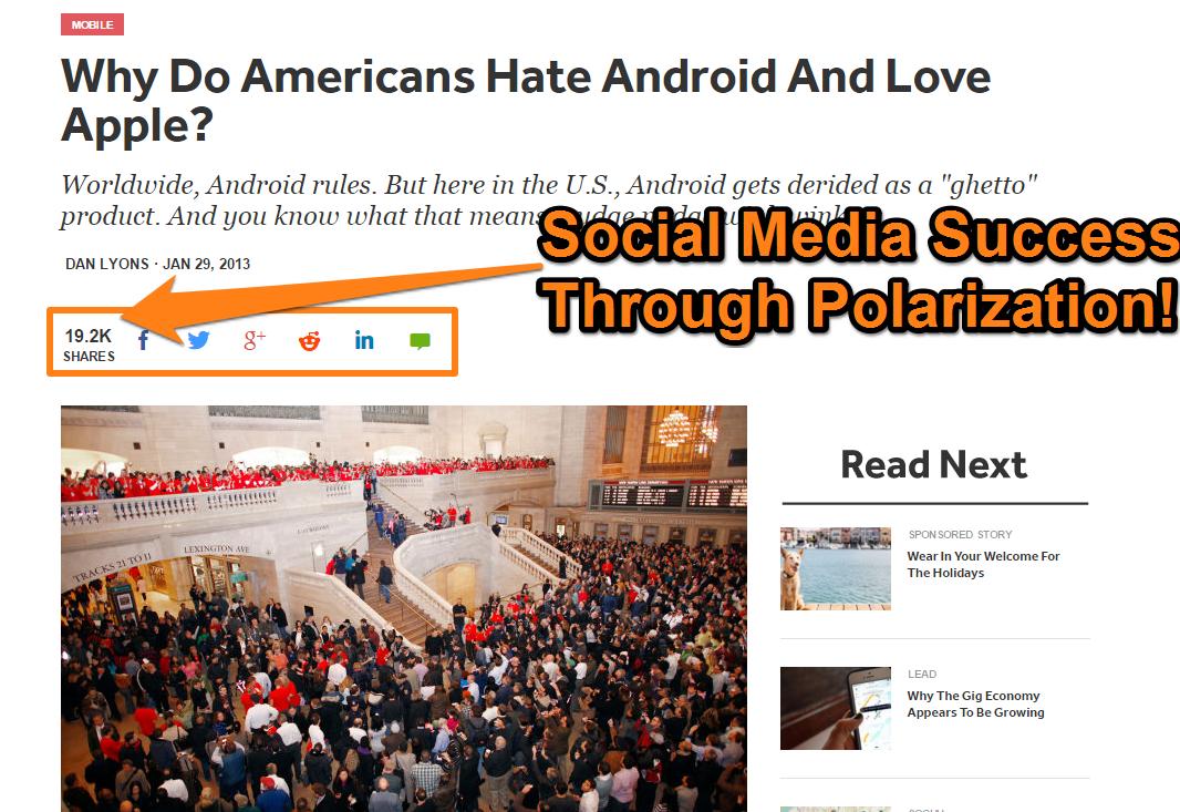 Social Media Success Android vs. iOS
