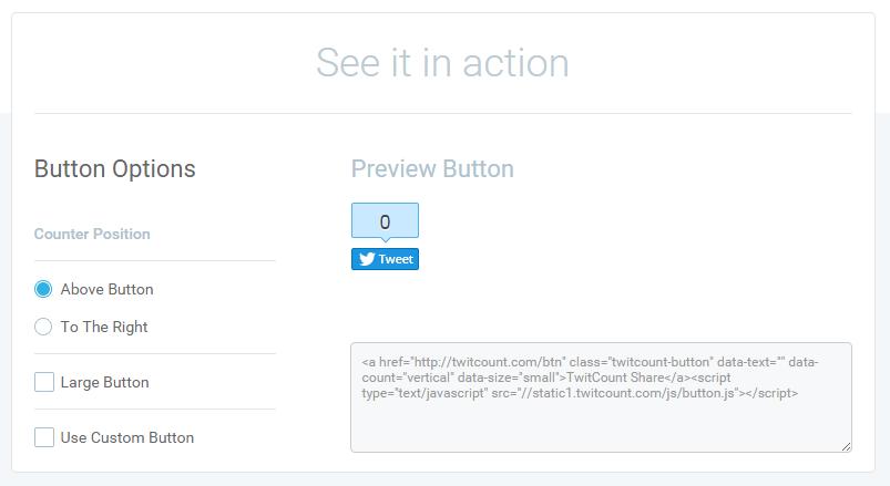 TwittCounts Button