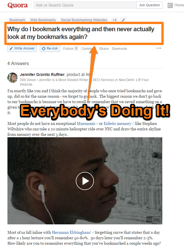 You Don't Read Bookmarks