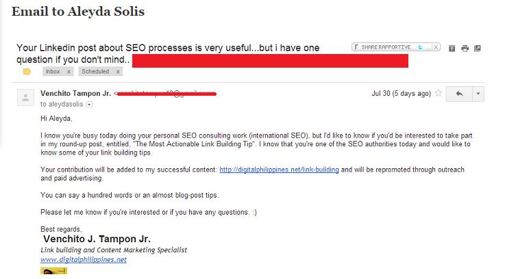 Digital Philippines Email Outreach Aleyda Solis