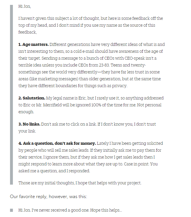 29 Powerful Cold Email Tips Backed by Renowned Digital